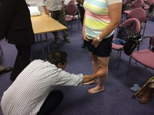 Examination of knees